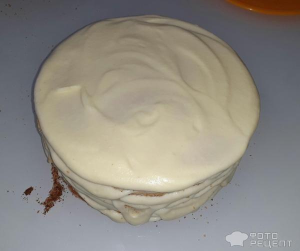 """Рецепт: Творожный торт """"Наполеон"""" - С заварным масляным кремом (без яиц)."""