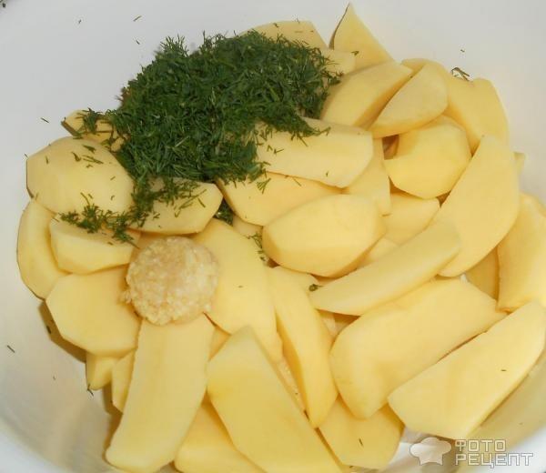 Рецепт: Пряный картофель - в духовке