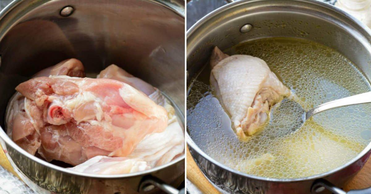Как приготовить ленивый холодец всего на одном курином бедре